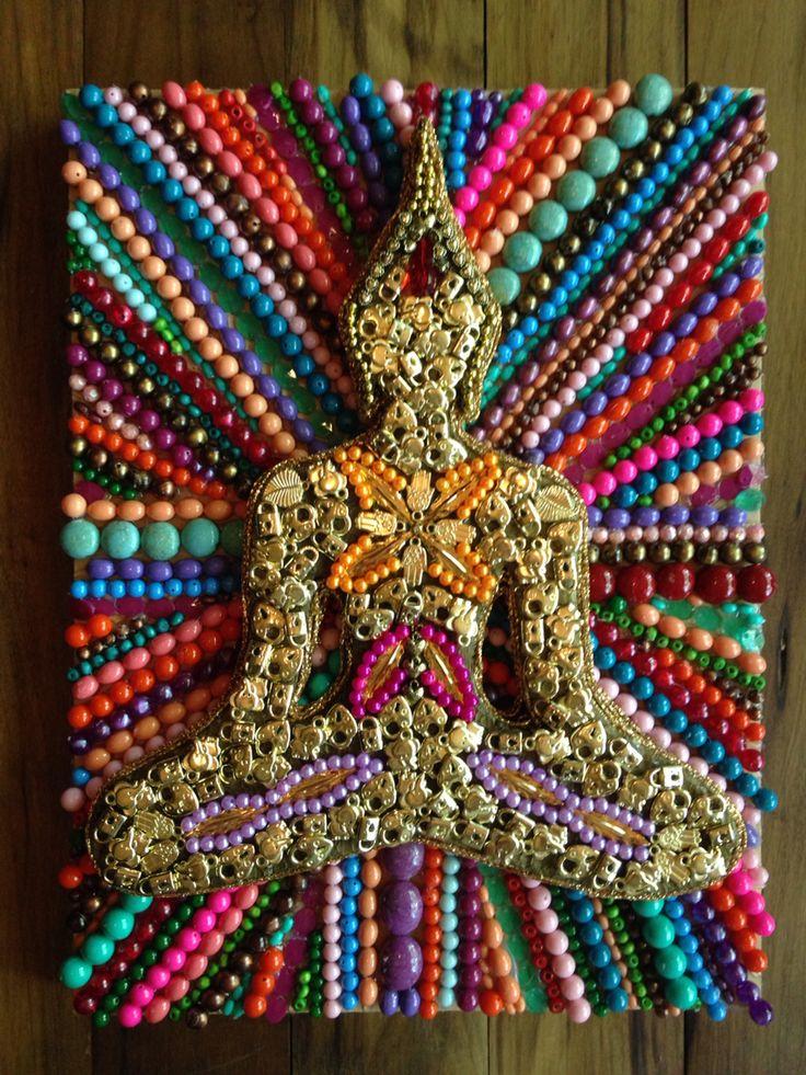 Nuevoooo!!! Línea Relieve, Formato Chico. Tamaño 40X30 #Buda #Artista #Collage #Art #Arte #ByRoxeArt #Deco #Relieve #Chico #Cuadro #Colores #ArteArgentino #Argentina #Paz #Amor #Dorado #Puntos #Lineas #Dibujo #Pintura