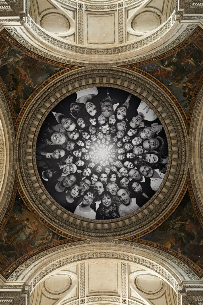 Artist JR turns the Panthèon in Paris INSIDE OUT | http://www.yatzer.com/jr-inside-out-pantheon