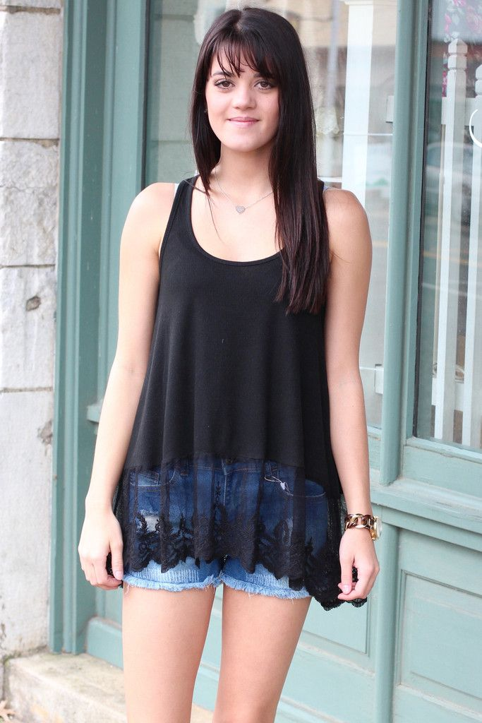 Lace Layering Tank {Black} | The Fair Lady Boutique