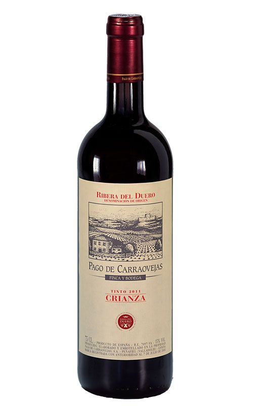 Pago de Carraovejas D.O. Ribera del Duero. Uno de los Riberas en los que crítica y público parecen estar de acuerdo.