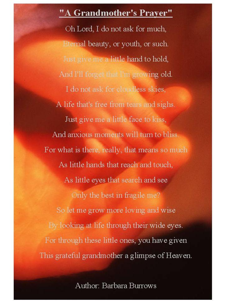 A Grandmother's Poem  To all my Grandchildren...