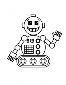 Robot Coloring | Robot Coloring Page for Kids | Smarty Pants Fun - Free Printable ...