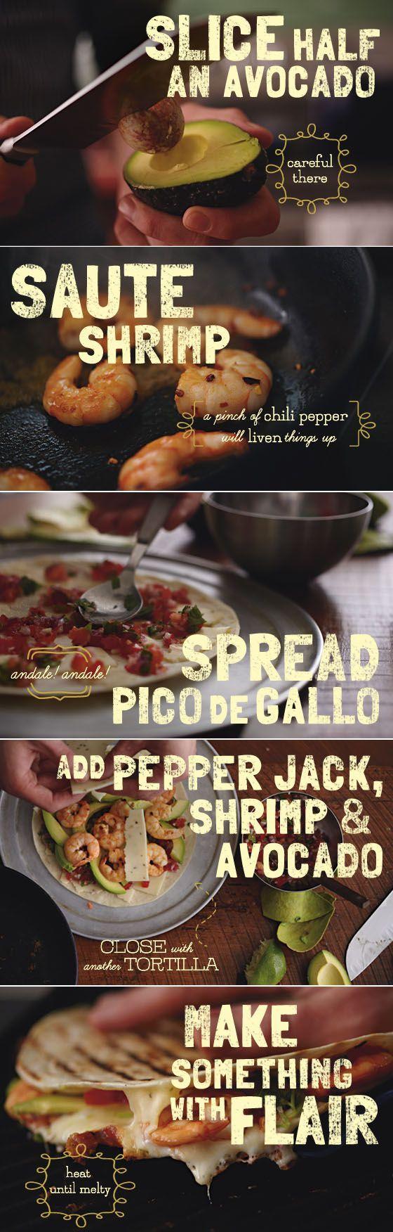 ... Jack Quesadillas, Shrimp Recipe, Quesadillas Recipe, Cheese