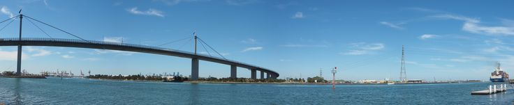 Week 8 - Panorama. Used four images, taken at Spotswood looking at the Westgate Bridge and industrial area.