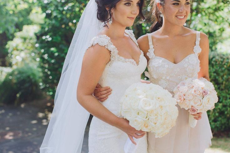 Just received the most beautiful images from our bride Alexia! Photo by #CandyCapco #realbride #weddingdress #lacedress