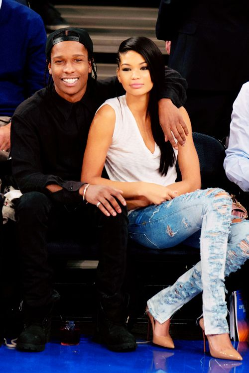 A$ap Rocky & Chanel Iman! She is so gorgeous!
