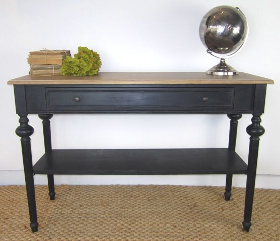 Maxime Console Black. 120 wide & 40 deep. $499. Black plus a bit of timber. Elegant looking