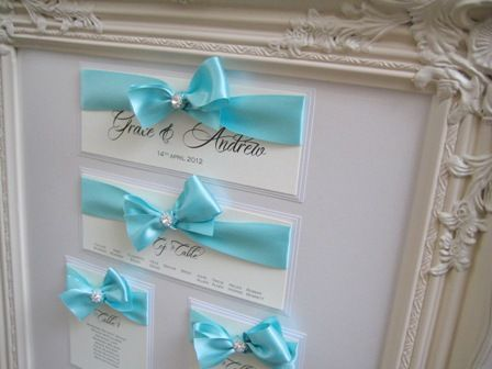 Gorgeous framed wedding seating plan just completed in aqua blue.