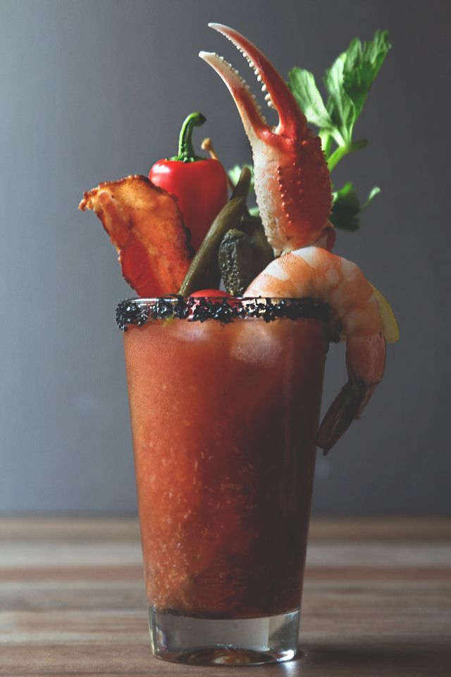 The Ultimate Bloody Mary, complete with snacks ;)
