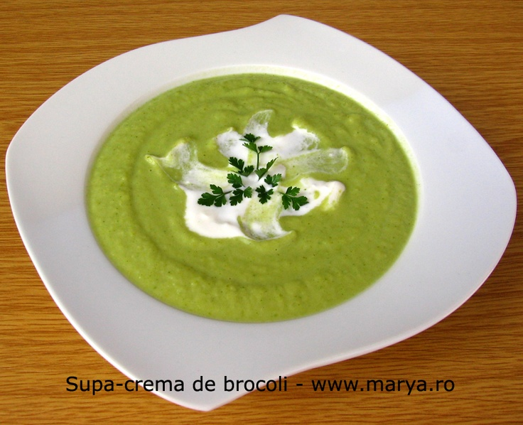 Supa-crema de brocoli    http://www.bucataria-romaneasca.ro/