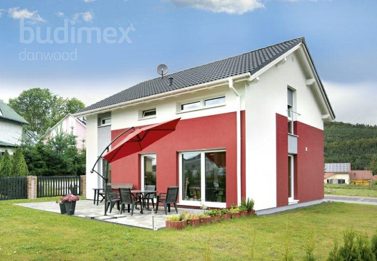 Eineinhalbgeschossige Häuser Point 119A || #houses #hauser || http://www.danwood.de/hauser/eineinhalbgeschossige/point-119a