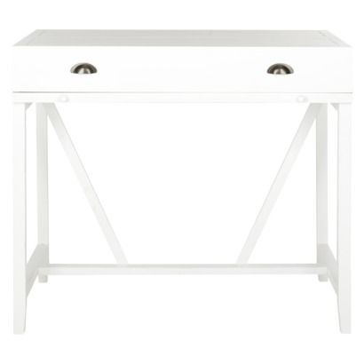 Writing Desk: Wytt Writing Desk with Pull Out - White