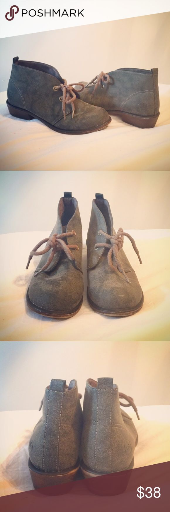 Dirty Laundry Low Chukka Boots Pre-Owned; in great condition. Low ankle boots in forest green/grayish color by Dirty Laundry. Lace-up. Size 7.5. Dirty Laundry Shoes Ankle Boots & Booties