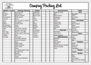 camping list: Camping List Great, Camping Summer, Camping Camping, Camping Packing List, Chore List, Camping List If, Camping Check Lists