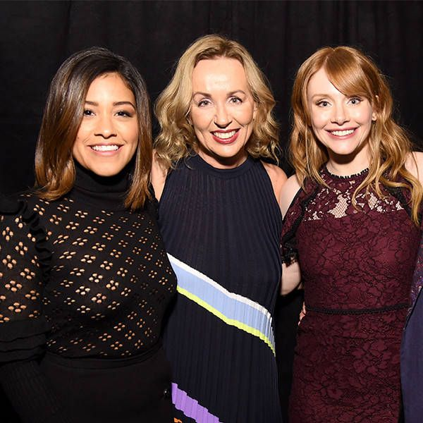 Moët Moment Film Festival from Party Pics: Hollywood  Gina Rodriguez, HFPA Judge Elisabeth Sereda, Bryce Dallas Howard and HFPA president Lorenzo Soria attend the Moët  & Chandon pre-Golden Globes event at Doheny Room.