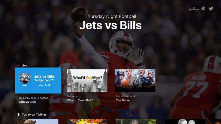 Twitter Launches Live Video Apps for Apple TV Fire TV and Xbox One In Time for Thursday Night Football Streams