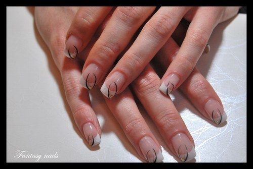 16 best ongles en gel images on pinterest schools nail art and french. Black Bedroom Furniture Sets. Home Design Ideas