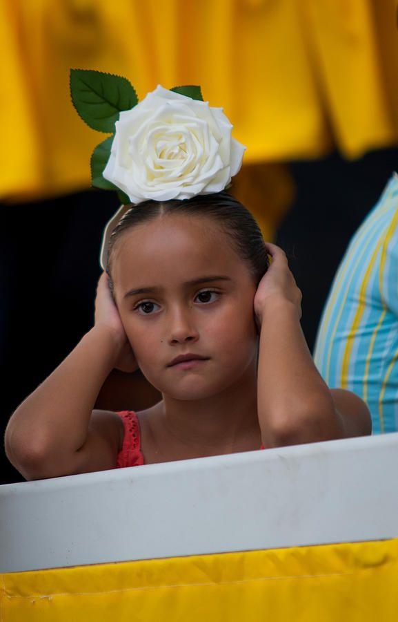 Little Frida Kahlo ? Romeria Celebration In Torremolinos. Spain by Jenny Rainbow