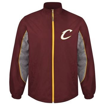 Cavs Cavaliers Slam Dunk Full-zip Jacket in wine at the Cleveland Cavaliers Team Shop