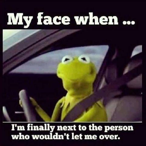 Driving humor.