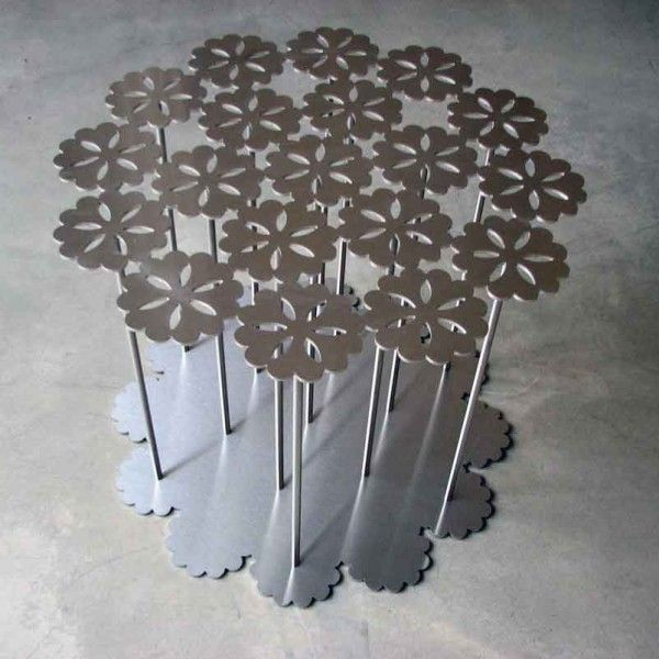 Flower Design Table Steel Low table interior design  Daisy Table 59 x H 49 cm