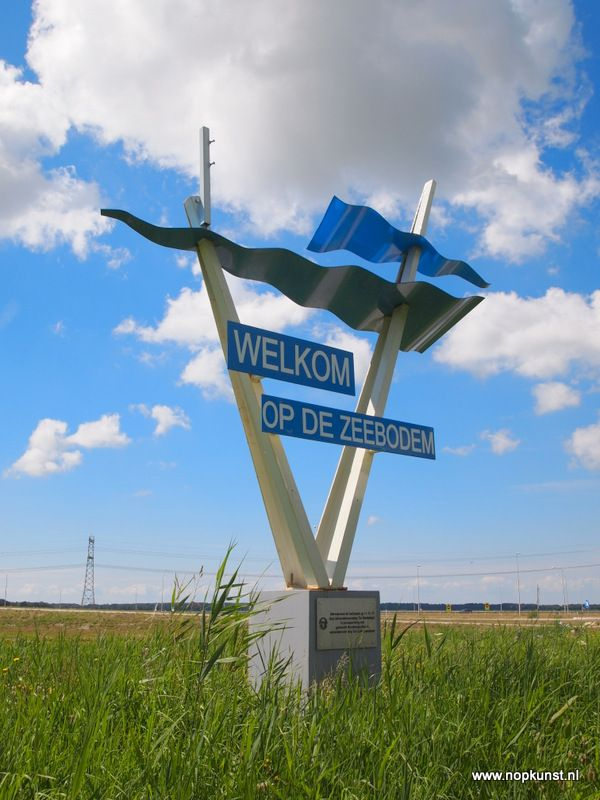 Welkom op de Zeebodem, ontworpen door Rien Happel, geplaatst 1962, verplaatst 2011