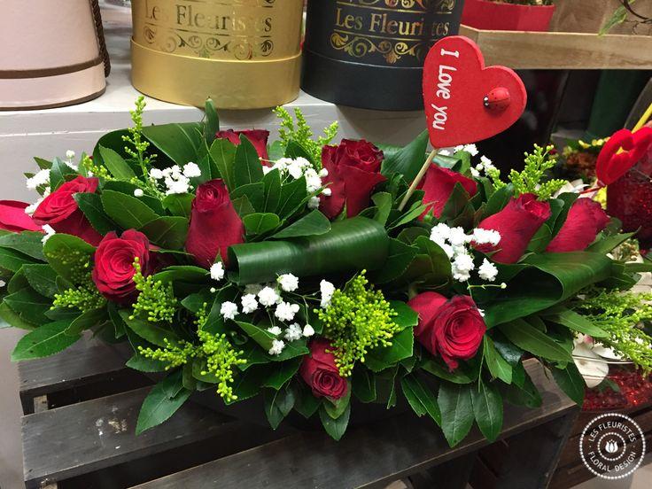 Ανθοσυνθέσεις για την γιορτή του #ΑγίουΒαλεντίνου #valentinesday #λουλουδια #αγαπη #lesfleuristes #iloveyou
