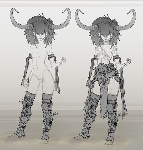 Fantasy Fighters - Thunder female 1 on Character Design Served