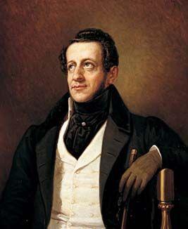 Retrato de Ángel de Saavedra o más conocido como el Duque de Rivas , que fue uno de los autores del Romanticismo.