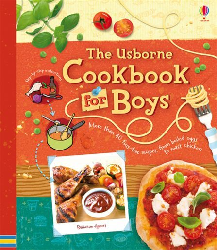 Usborne Cookbook for boys.  There room for everyone in the kitchen especially the boys with this great cookbook by Usborne.  Recipes are chosen carefully with the man of the house in mind.  $18.95 http://usborneonline.ca/catalogue/browse.asp?org=109055=1=1=ey=bbbb=5328