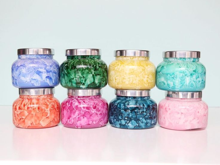 Capri Blue Watercolor Jars to infuse any space with amazing colors and aromas!