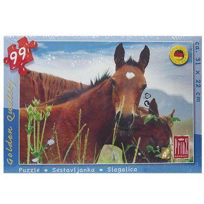 Puzzel kind bruin paard 99 dlg
