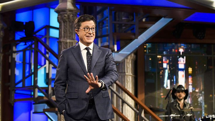 """6:18 PM PDT 7/11/2017  by   Jennifer Konerman       """"We were wrong,"""" joked the 'Late Show' host on Tuesday's show.  The Late Show host Stephen Colbert took a moment during Tuesday's show to speak to President Donald Trump's sons. """"At this... #Apologizes #Colbert #Dumb #Eric #Jokes #Stephen #Thought #Trump"""