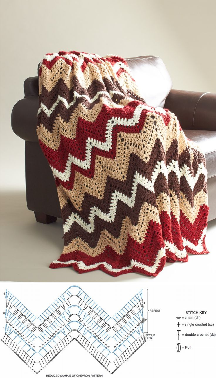 Manta multicolor crochet. Grafico.                                                                                                                                                      Más