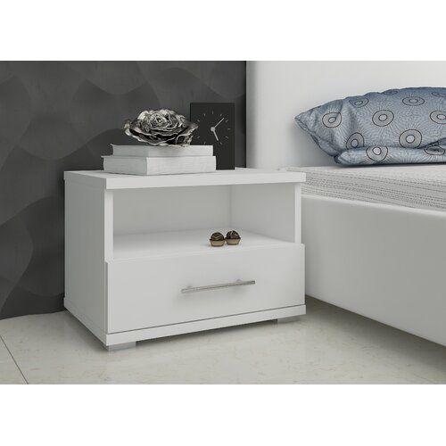 Fallin 1 Drawer Bedside Table Metro Lane Drawer Colour High Gloss Black Side Table With Storage Cube Side Table 3 Drawer Bedside Table