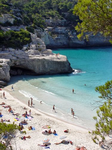 Cala Mitjana Menorca in Spain....Planning a trip to spain this summer with my mamma and this is a definite MUST SEE!!! http://hotels.hoteldealchecker.com/