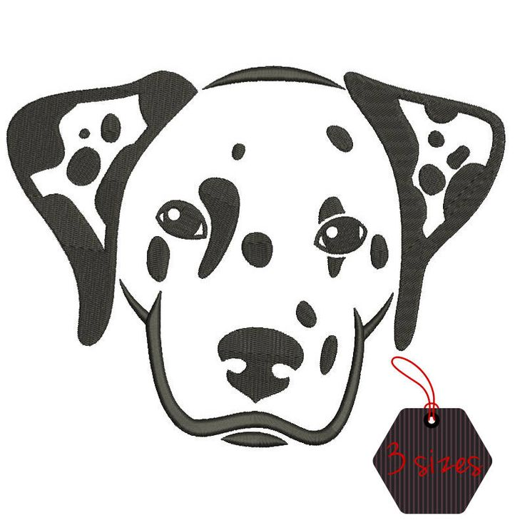Embroidery design Dalmatian dog pattern puppy designs in the hoop pes files towel machine instant digital download by SvgEmbroideryDesign on Etsy
