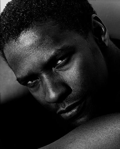 Denzel Washington (detail), Hollywood 1990. by Herb Ritts ( Herb Ritts Foundation)