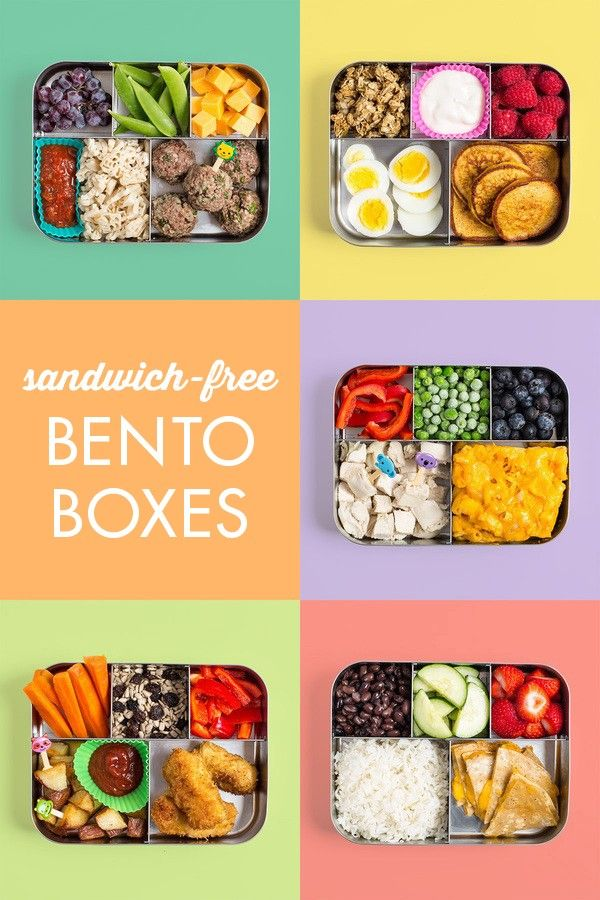 Sandwich-Free Bento Box Lunches