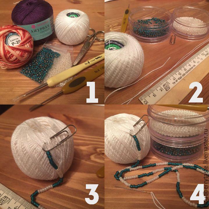 Как начать вязать бисерный жгут «с нуля» - Ярмарка Мастеров - ручная работа, handmade