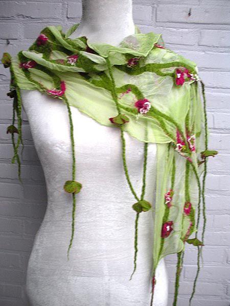 merino en zijde lente sjaal