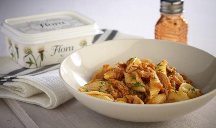 Λαχταριστά κοχύλια με σάλτσα τόνου εύκολα και γρήγορα με αυτήν τη συνταγή!