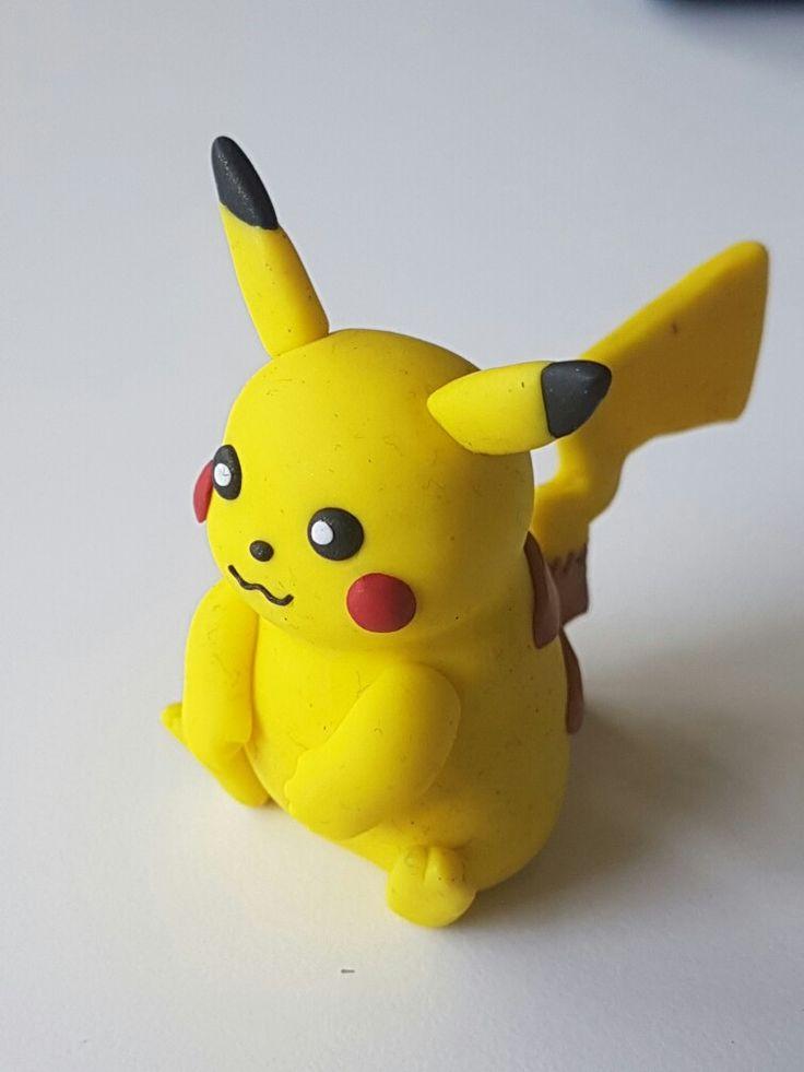 Pikachu polymer fimo clay.