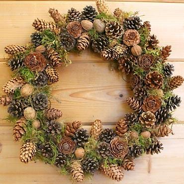 pine cone wreath …
