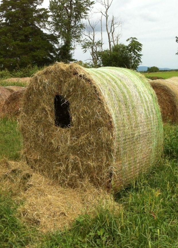 Hay Bale Hunting Blind