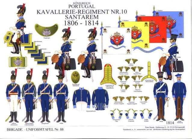 Portugal; 10th Santarem Cavalry Regiment, 1806-14