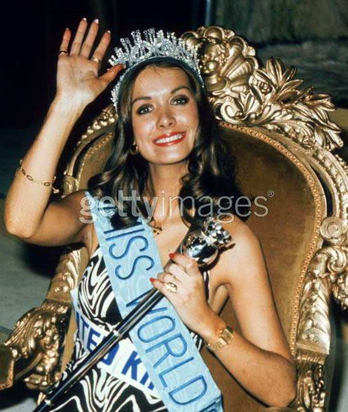 Helen Morgan (United Kingdom) - Miss World 1974. She was forced to resign four days after her victory, upon the discovery that she had a 18 month old son. Although this did not violate the competition rules (which stipulated only that entrants must be unmarried), she was made to resign. First runner-up Anneline Kriel of South Africa succeeded her.
