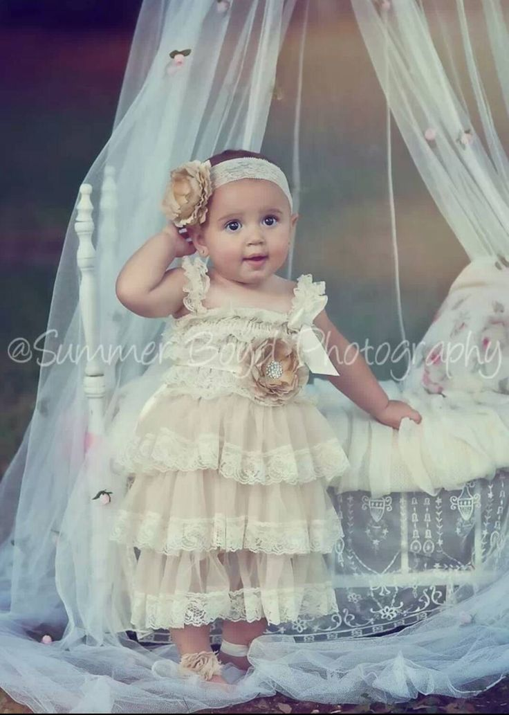 Tan Beige Lace Toddler Baby Girl Dress Tan By