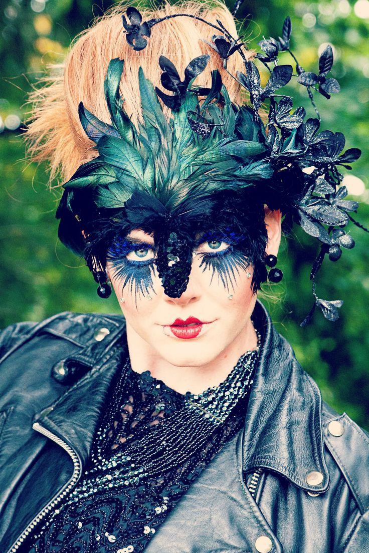 Lady Raven Mask created by Alisa Ann Tetreault Clothing: Most Everything Vintage Model: Suzy Thompson Photographer: May Faith Photographer Hair: Ashley Rauch MUA: Kandie Smith #raven #ravenmask #ladyraven #ravenkphotograph #creativeraven #animalmask #creativeanimalmasks #creativephotography #vancouverwashington