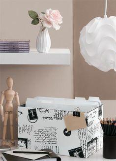 Faça uma caixa charmosa para pastas de arquivo